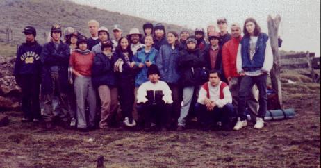Integrantes de la Primera Excursión (Enero, 1998)